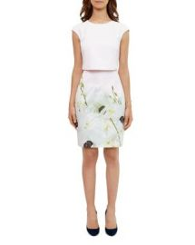 Ted Baker Sneha Pearly Petal Tiered Dress at Bloomingdales