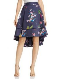 Ted Baker Tropical Oasis Floral Print High Low Skirt at Bloomingdales