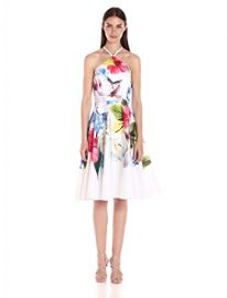 Ted Baker Women s Corpina Forget Me Not Floral Halter-Neck Dress at Amazon