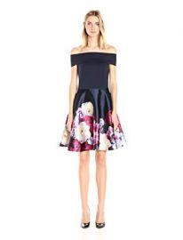 Ted Baker Women s Nersi Blushing Bouquet Bardot Dress at Amazon