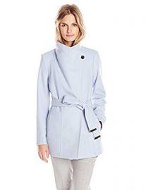 Ted Baker Women s Paria Short Button-Detail Wrap Coat at Amazon