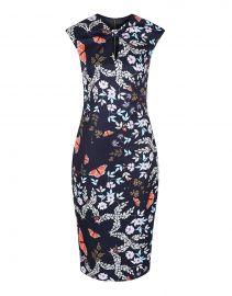 Ted Baker Womens Kairra Kyoto Gardens Bow Neck Dress at Amazon