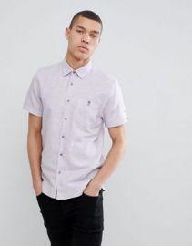 Ted Baker slim short sleeve linen shirt in lilac at asos com at Asos
