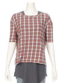 Tee Lab by Frank & Eileen Plaid Core Elbow Tee at Ron Herman