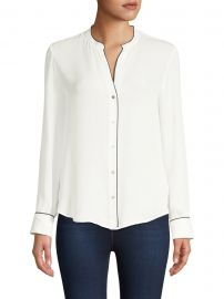 Tegan Piped Trim Blouse at Saks Fifth Avenue
