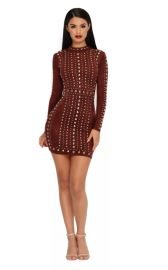 Tell Me About It Stud Suede Mini Dress by Oh Polly at Oh Polly