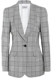 Temperley LondonandnbspandnbspMillie Prince of Wales check wool and mohair-blend blazer at Net A Porter