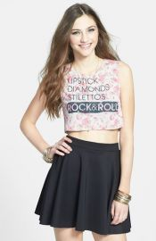 Ten Sixty Sherman and39Lipstick andamp Diamondsand39 Crop Tank at Nordstrom