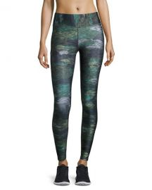 Terez Tall Band Heathered Camo Performance Leggings  Multicolor at Neiman Marcus