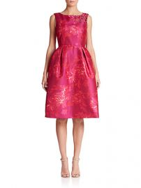 Teri Jon by Rickie Freeman - Embellished Floral Jacquard Cocktail Dress at Saks Fifth Avenue
