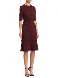 Teri Jon by Rickie Freeman - Tweed Sheath Dress at Saks Fifth Avenue