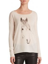 Tess Giberson - Silk Wool Cashmere Horse-Print Sweater at Saks Fifth Avenue
