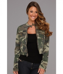 Textile Elizabeth and James Wesley Jacket Olive Camo at Zappos