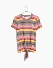 Texture & Thread Modern Tie-Front Top by Madewell at Madewell