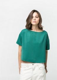 Textured Boxy Top at Mango