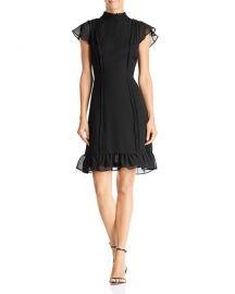 Textured Chiffon Ruffle Dress  Adrianna Papell at Bloomingdales