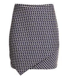 Textured Jersey Skirt in Patterned at H&M