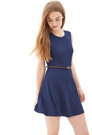 Textured Knit Skater Dress at Forever 21
