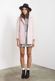 Textured Longline Coat at Forever 21