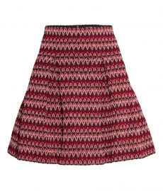 Textured Skirt in Red at H&M