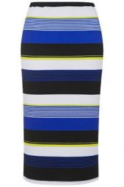 Textured Stripe Tube Skirt at Topshop