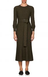 Textured Wool Belted Midi-Dress at Barneys