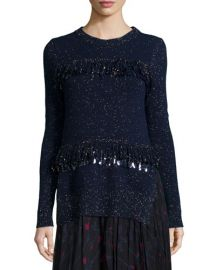 Thakoon Sequined Fringe Shimmer Sweater at Bergdorf Goodman