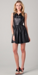 Thakoon black leather dress at Shopbop