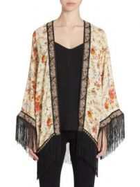 The Kooples - Embroidered Fringed Kimono at Saks Fifth Avenue