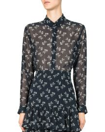 The Kooples Bloom Sheer Floral-Print Shirt at Bloomingdales