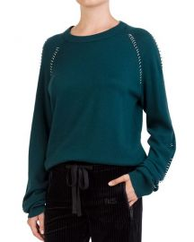 The Kooples Ring-Trim Crewneck Sweater at Bloomingdales
