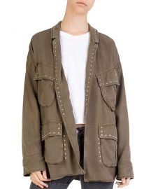 The Kooples Studded Cargo Jacket at Bloomingdales