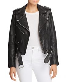 The Shaina Leather Biker Jacket at Bloomingdales