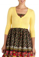 The Dream of the Crop Cardigan in Lemon at ModCloth