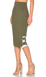 The Fifth Label Late Night Skirt in Olive from Revolve com at Revolve