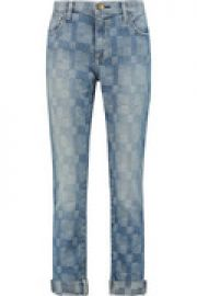 The Fling patchwork low-rise boyfriend jeans at The Outnet