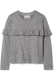 The Great   The Ruffle stretch-jersey top at Net A Porter