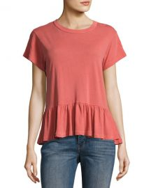 The Great The Ruffle Tee  Pink at Neiman Marcus