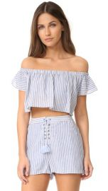 The Jetset Diaries Haven Off Shoulder Crop Top at Shopbop