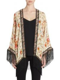 The Kooples - Embroidered Fringed Kimono at Saks Off 5th