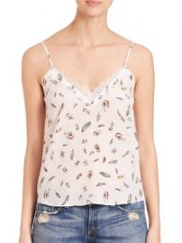 The Kooples - Feather-Print Silk Camisole at Saks Off 5th