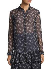 The Kooples - Floral Chiffon Shirt at Saks Fifth Avenue