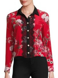 The Kooples - Floral-Print Silk Crepe De Chine Shirt at Saks Fifth Avenue