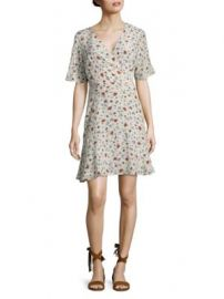 The Kooples - Floral Silk Wrap Dress at Saks Off 5th
