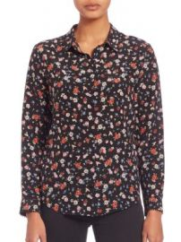 The Kooples - Flower Print Silk Shirt at Saks Fifth Avenue
