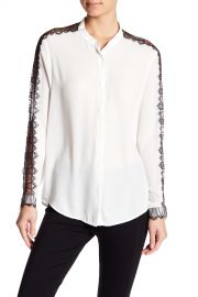 The Kooples   Lace Detail Long Sleeve Shirt   Nordstrom Rack at Nordstrom Rack