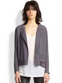 The Kooples - Lightweight Crepe Moto Jacket at Saks Fifth Avenue