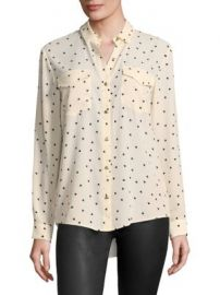 The Kooples - Matte Crepe Heart Print Shirt at Saks Fifth Avenue