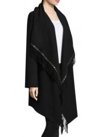 The Kooples - Mid-Length Fringe Poncho at Saks Fifth Avenue