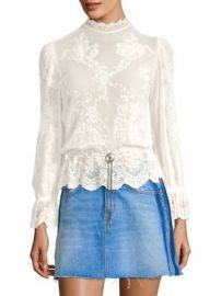 The Kooples - Western Jewel Lace Top at Saks Fifth Avenue